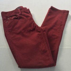J Crew Reid Corduroy Maroon Pants,  Size 26P.  GUC